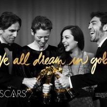 Oscar: foto di gruppo in uno dei poster dell'88esima edizione