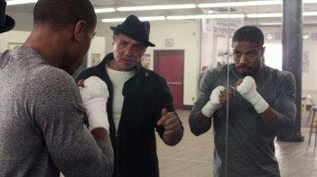 Creed - Nato per combattere: Sylvester Stallone e Michael B. Jordan in una scena del film