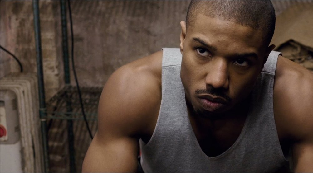 Creed - Nato per combattere: Michael B. Jordan in una scena del film