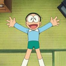 Doraemon il film: Nobita e gli eroi dello spazio, un'immagine tratta dal film di animazione