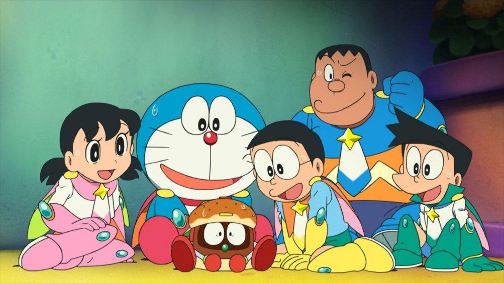 Doraemon il film: Nobita e gli eroi dello spazio, una scena tratta dal film d'animazione