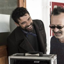 Onda su onda: Alessandro Gassman e Rocco Papaleo sul set del film