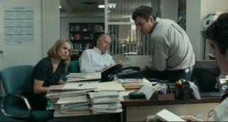 Il caso Spotlight: Rachel McAdams, Michael Keaton, Mark Ruffalo e Brian d'Arcy James in un momento del film