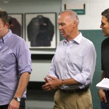 Il caso Spotlight: Michael Keaton, Mark Ruffalo e il regista Tom McCarthy sul set del film