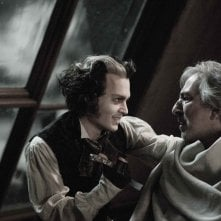 Johnny Depp e Alan Rickman in Sweeney Todd