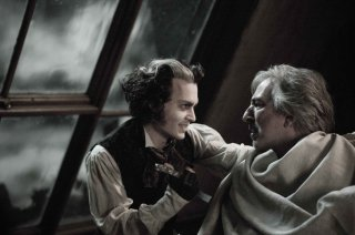 Johnny Depp e Alan Rickman in Sweeney Todd