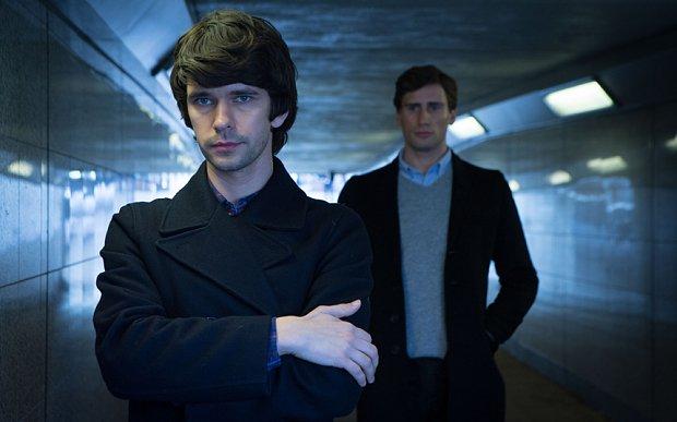 London Spy: Ben Whishaw ed Edward Holcroft in una foto della serie