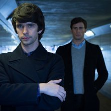 London Spy: Ben Whishaw ed Edward Holcroft in una foto della serie