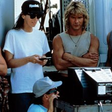 Kathryn Bigelow sul set di Point Break