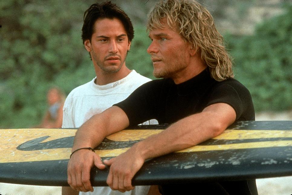 Patrick Swayze e Keanu Reeves in Point Break