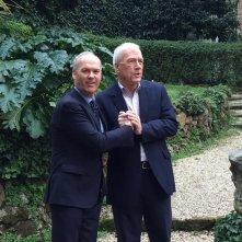 Il caso Spotlight: Michael Keaton al photocall con il giornalista Walter Robinson