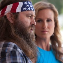 God's Not Dead: Willie Robertson e Korie Robertson in una scena del film