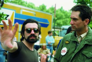 Robert De Niro e Martin Scorsese sul set di Taxi Driver