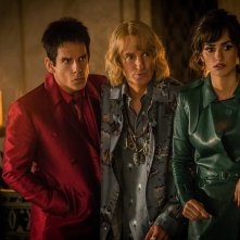 Zoolander 2: Ben Stiller, Owen Wilson e Penelope Cruz in una scena del film