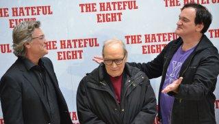 Tarantino presenta The hateful eight con Kurt Russell e il maestro Morricone a Roma