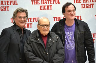 Kurt Russell, Tarantino e Morricone presentano The Hateful Eight a Roma