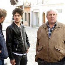 Saint amour: Vincent Lacoste, Benoît Poelvoorde e Gérard Depardieu in un momento del film
