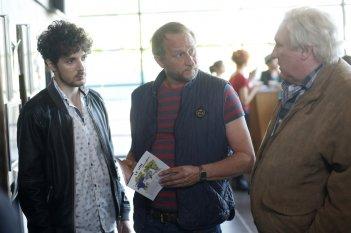 Saint amour: Vincent Lacoste, Benoît Poelvoorde e Gérard Depardieu in una scena del film