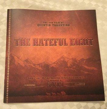 The Hateful Eight: il programma della proiezione americana in 70mm