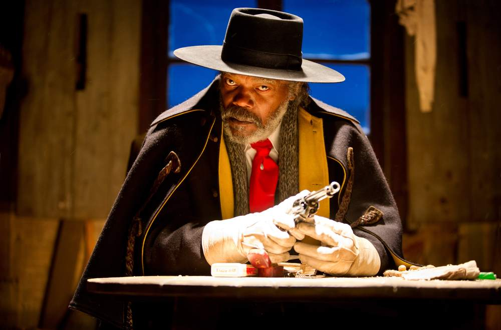 The Hateful Eight: Samuel L. Jackson in una scena del film