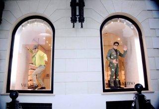 Ben Stiller e Owen Wilson in vetrina  a Roma per Zoolander 2