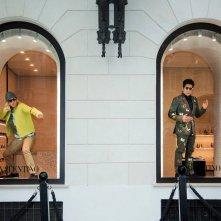 Ben Stiller e Owen Wilson in vetrina da Valentino nella Capitale per Zoolander 2