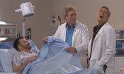 George Clooney e Hugh Laurie nell'incontro in TV per E.R./Dr. House