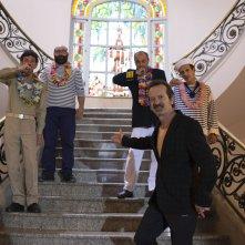 Rocco Papaleo in una scena della commedia Onda su Onda