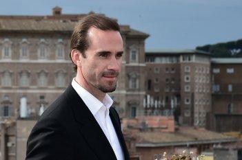 Joseph Fiennes a Roma per la promozione di Risorto