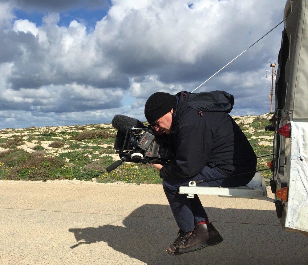 Fuocoammare: Francesco Rosi al lavoro sul set