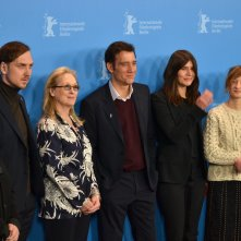 Berlino 2016:Meryl Streep, Clive Owen, Liam Eidinfìger, Alba Rohrwacher, Małgorzata Szumowska e Brigitte Lacombe al photocall della giuria