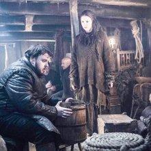 Il trono di spade: Hannah Murray e John Bradley in una foto della première della sesta stagione