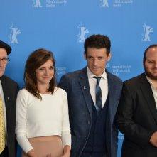 Berlino 2016: Julieta Zylberberg, Baniel Burman, Alan Sabagh al photocall di The Tenth Man