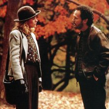 Billy Crystal e Meg Ryan in una scena di Harry ti presento Sally