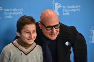 Berlino 2016:Samuele Puccillo e il regista Gianfranco Rosi al photocall di Fuocoammare