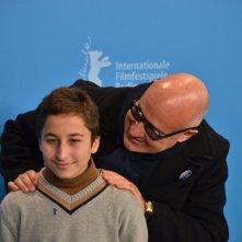 Berlino 2016: Gianfranco Rosi e Samuele Puccillo al photocall di Fuocoammare