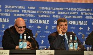 Berlino 2016: Gianfranco Rosi e Pietro Bartolo alla conferenza di Fuocoammare
