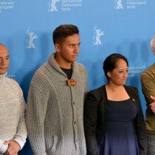 Berlino 2015: Lee Tamahori, Temuera Morrison, Nancy Brunning e Akuhata Keefe al photocall del film The Patriarch