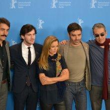 Berlino 2016: Margarida Vila-Nova, Ivo Ferreira, Miguel Nunes, Ricardo Pereira al photocall di Letters from War
