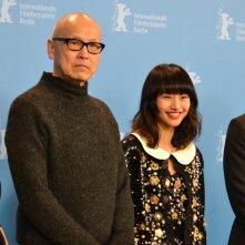 Berlino 2016: Shioli Kutsuna, Hidetoshi Nishijima, Yukie Kito e Sayuri Oyamada posano al photocall di While the Women Are Sleeping