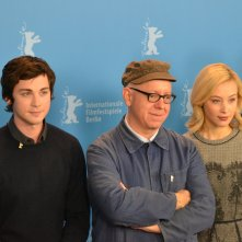 Berlino 2016: James Schamus, Sarah Gadon e Logan Lerman e i produttori al photocall di Indignation