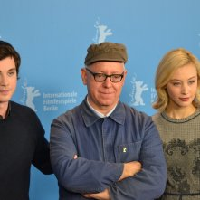 Berlino 2016: James Schamus, Sarah Gadon e Logan Lerman posano al photocall di Indignation