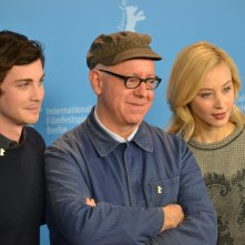 Berlino 2016: James Schamus, Sarah Gadon e Logan Lerman al photocall di Indignation