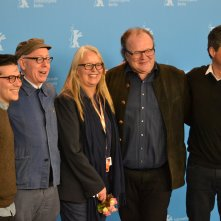 Berlino 2016: James Schamus, Sarah Gadon, Logan Lerman e i produttori del film al photocall di Indignation