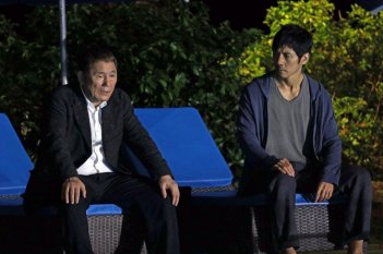 While the Women are Sleeping: Takeshi Kitano e Hidetoshi Nishijima in una scena