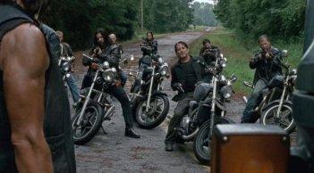 the Walking Dead: il gruppo di Negan nell'episodio No Way Out