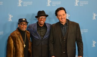 Berlino 2016:Spike Lee, John Cusack, Nick Cannon in uno scatto del photocall di Chi-Raq