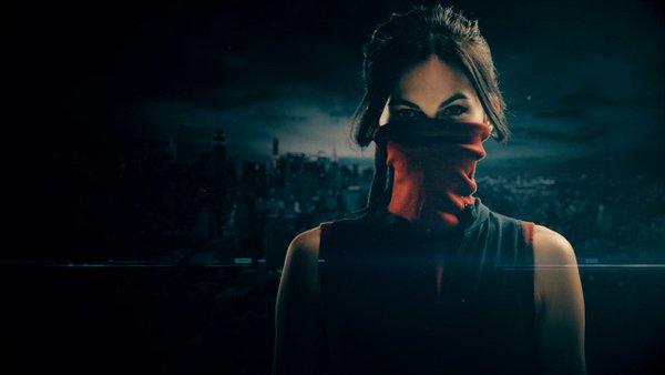 Daredevil: una foto promozionale di Elektra