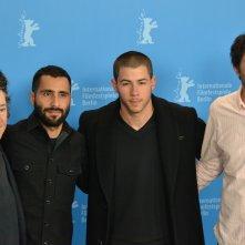 Berlino 2016: Andrew Neel, Nick Jonas, Christine Vachon, David Hinojosa al photocall di Goat