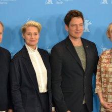 Berlino 2016: Thomas Vinterberg, Trine Dyrholm, Helene Reingaard Neumann,  al photocall di The Commune